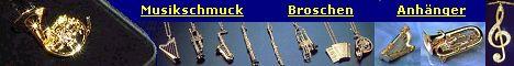 Musikinstrumente - Miniaturen - Musikschmuck - Broschen - Anh�nger