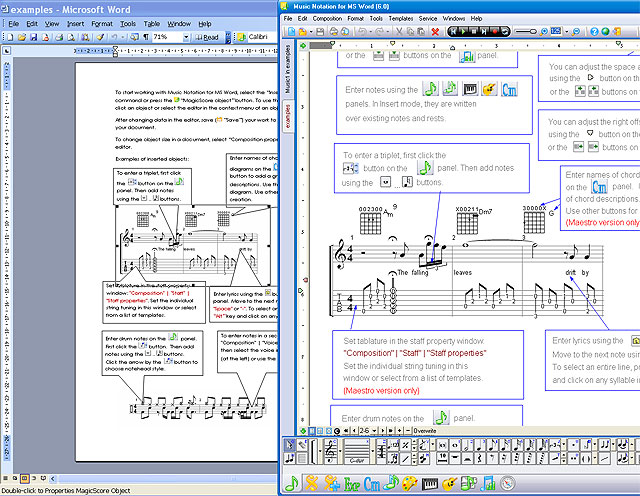 Music Notation software For MS Word