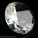 Großer Diamant mit persönlicher Gravur