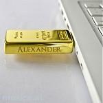 Goldbarren USB-Stick 2GB - auf Wunsch auch mit Gravur