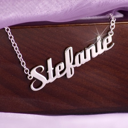 Namenskette in Silber oder vergoldet