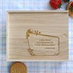Geschenkebox aus Holz mit persönlicher Gravur